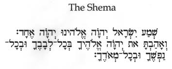 The obligation to recite the Shema and how to pray to Elohim