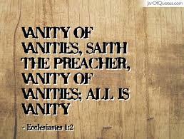vanityvanities